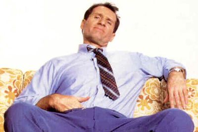 <B>Originally starred in...</B> <I>Married With Children</I>. Ed's character, patriarch Al Bundy, is pretty much the definition of a schlub — he's a bad husband, a lousy father, a worse neighbour, the founder of woman-hating club NO MA'AM (National Organization of Men Against Amazonian Masterhood), <I>and</I> he always has a hand tucked down the front of his pants. Classy.
