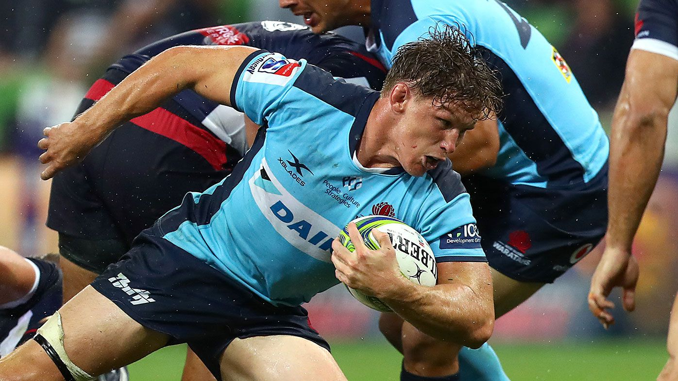 Michael Hooper in action against the Melbourne Rebels 2020
