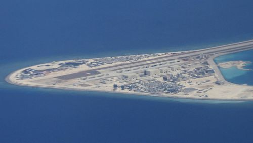 China has constructed a number of man-made islands and bases to exert influence over the South China Sea, such as at the Subi Reef.