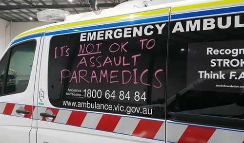 The government has signed off on new laws designed to ensure people who assault emergency services are sent to jail. Picture: Twitter / ALS Paramedic