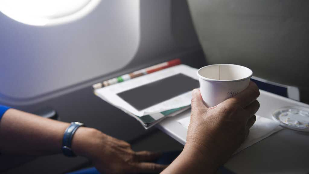 The best drink to order while on a plane