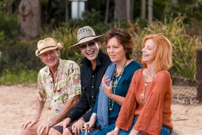 Bryan Brown, Greta Scacchi, Richard E. Grant, Heather Mitchell, Palm Beach movie