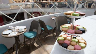 Ladurée Chadstone - tea and macarons with a view