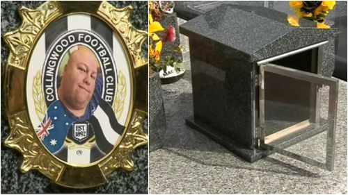 Russell Clayton's grave was targeted by the vandals. (9NEWS)