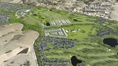 The site has been subdivided into 400 lots and will house a Greg Norman designed 9-hole golf course. Picture: 9NEWS