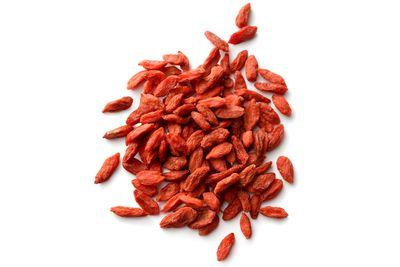 Dried goji berries: 45.7g sugar per 100g