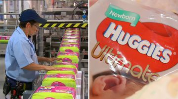 Huggies Nappies production Asia move Sydney closure