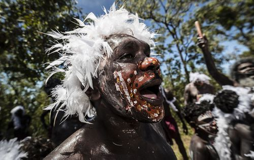 Charles was given a traditional Indigenous welcome. (AAP)