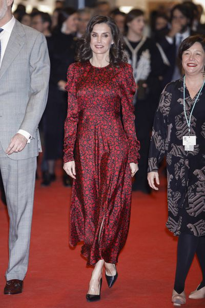 Queen Letizia attends opening of ARCO modern art fair, February 2020