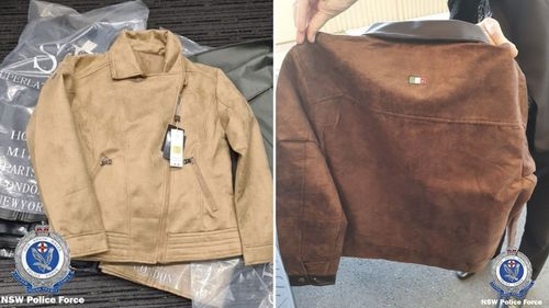 NSW Police seized 22 jackets this week.