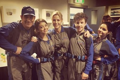 @therealsarahhyland: Our new family uniform. Little different from the Von Trapps but still fashionable. #modernfamily #australia.