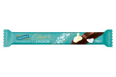 Lindt Lindor coconut bar 38g: 4 teaspoons of sugar