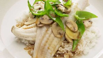 """Recipe:&nbsp;<a href=""""http://kitchen.nine.com.au/2016/05/16/18/11/chinese-steamed-fish-and-vegetables"""" target=""""_top"""">Chinese steamed fish and vegetables</a>"""