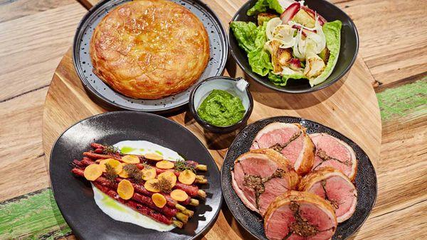 Matt Moran's meat and three veg Family Food Fight roast challenge