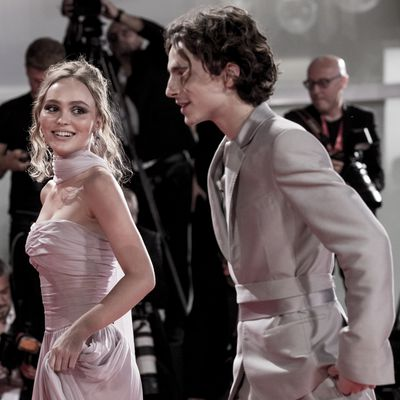 Lily-Rose Depp and Timothée Chalamet