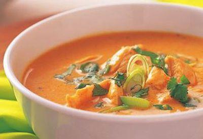 "Recipe:<a href=""/recipes/ichicken/8344974/thai-style-pumpkin-and-chicken-soup"">Thai-style pumpkin and chicken soup</a>"