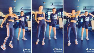 Jessica Alba, daughter Honor, TikTok, dance, video