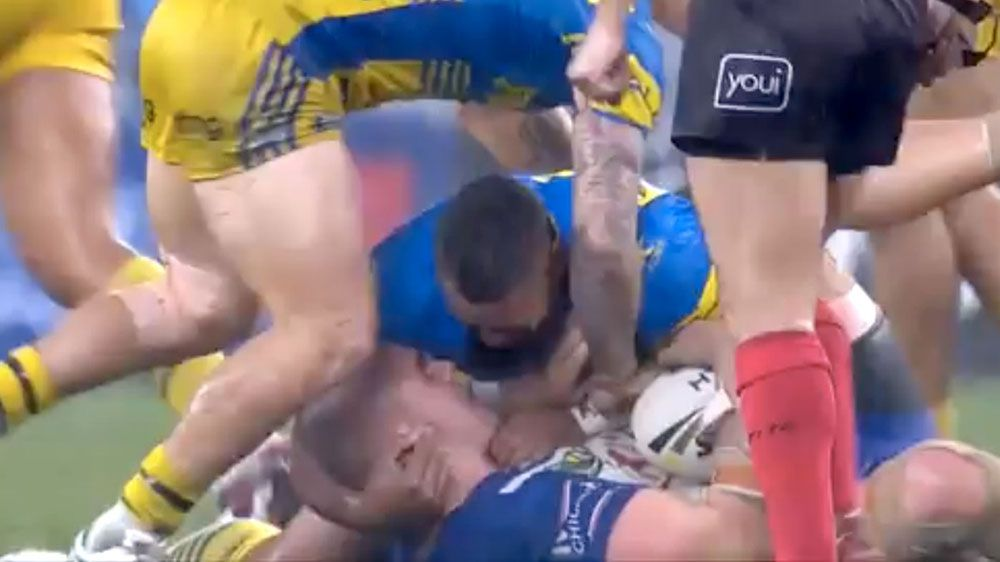 Parramatta Eels forward Frank Pritchard says biting claim against Canterbury star David Klemmer was a joke gone wrong