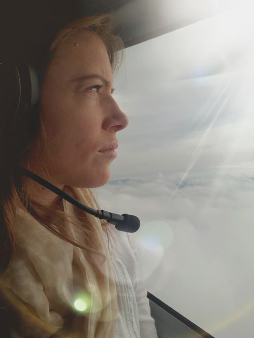 Rachael was aboard a helicopter when the volcano erupted. (Rachael Dyer)