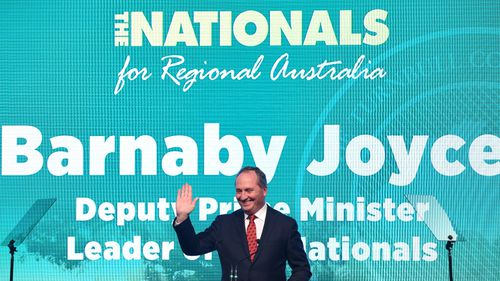 Barnaby Joyce at the launch. (AAP)