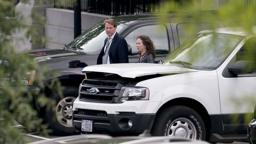 Don McGahn pictured soon after his departure was announced.