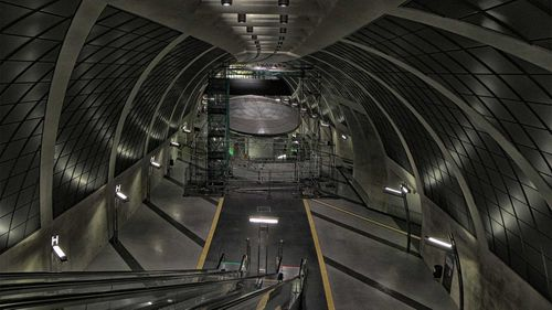 DARPA posted this photo of an underground tunnel on Twitter.