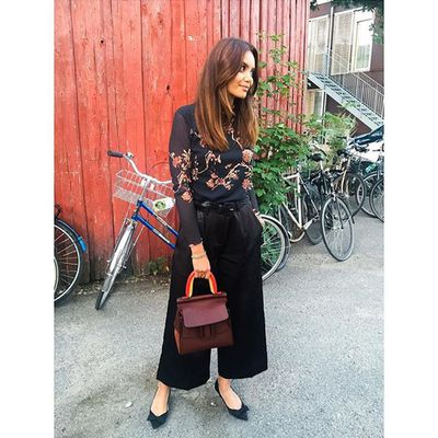 <p>Belt in culottes to keep from overwhelming your shape.</p>