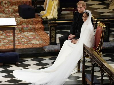 Meghan Markle's royal wedding veil.