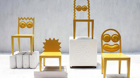 Weird: The Simpsons as chairs