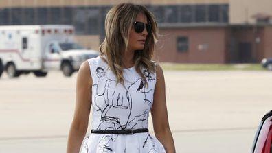 Melania Trump wearing Alexander McQueen