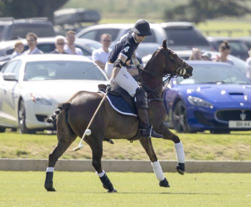Prince William takes part in the Maserati Royal Charity Polo Trophy. Picture: AAP