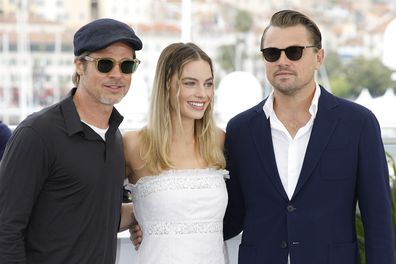 Brad Pitt, Margot Robbie and Leonardo DiCaprio promoting Once Upon a Time in Hollywood at Cannes