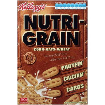 <strong>Nutri-Grain (26.7 grams of sugar per 100 grams)</strong>