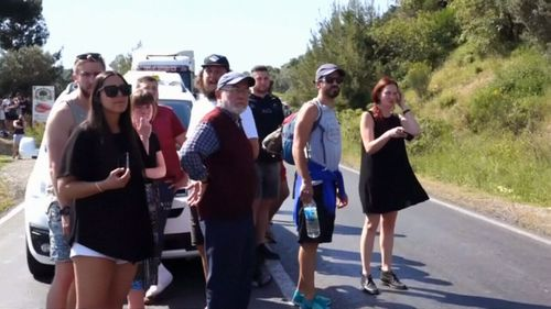 The tourists were making their way to Gallipoli for Anzac Day services. (9NEWS)