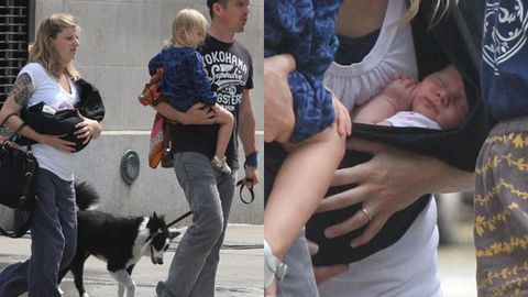 Pics: first glimpse of Ethan Hawke's new baby girl