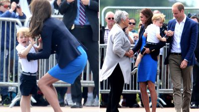 <p>Young royal Prince George seemed to enjoy the planes and helicopters on display at the Royal International Air Tattoo show, but was not a fan of the accompanying noise. </p> <p>(All images AAP)</p>