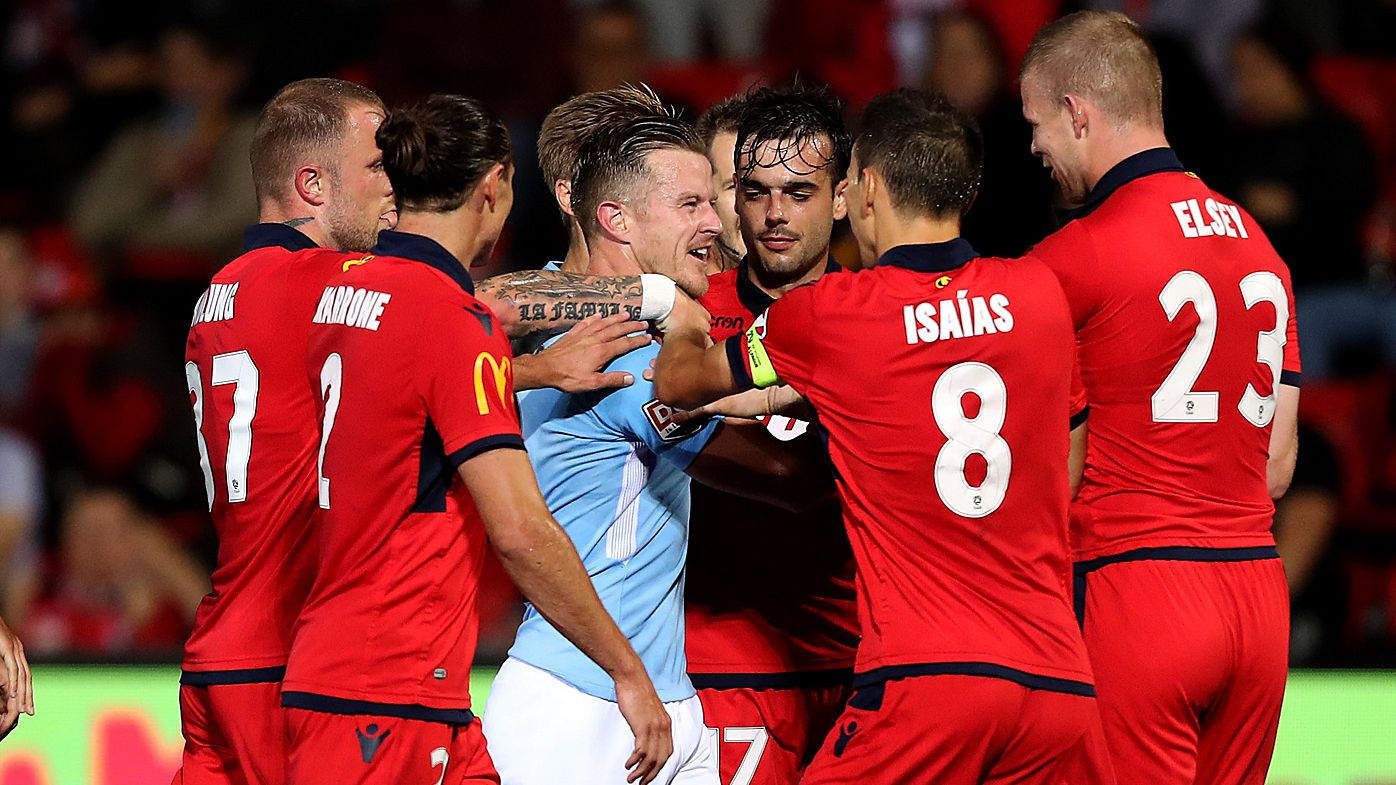 Adelaide draw with Melbourne City in feisty A-League encounter