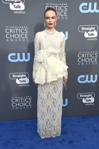 Actress Kate Bosworth in Brock  at the 2018 Critics Choice Awards