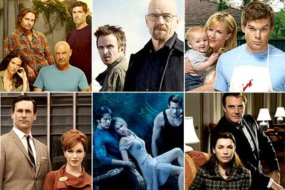 <I>Lost</I><br/><br/><I>Breaking Bad</I><br/><br/><I>Dexter</I><br/><br/><I>Mad Men</I><br/><br/><I>True Blood</I><br/><br/><I>The Good Wife</I>