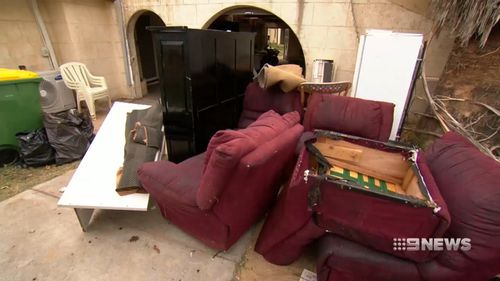 Furniture and rotten food were left throughout the home. (9NEWS)