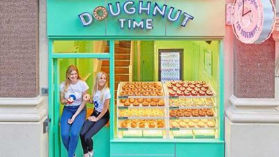 """<p><span style=""""text-decoration: underline;"""">London &amp; Australia:&nbsp;Australian brand Doughnut Time have gone international</span><br /> <br /> The delicious afternoon delights are now available in London, with their first UK store opening recently in the West End theatre district of Soho.</p> <p>There are more stores set to open in East London and Notting Hill later this year.&nbsp;To mark the occasion, Doughnut Time have launched a special sweet treat called 'Love Actually', available both in the UK and Australia.</p>"""