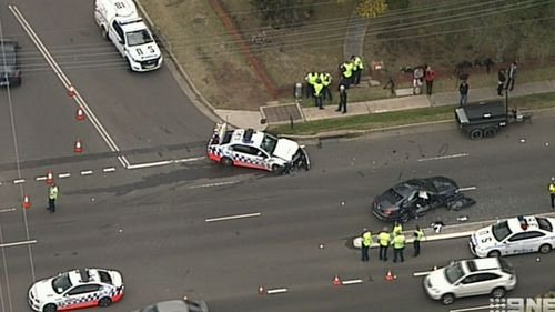 The pursuit which ended in the crash in Cronulla.