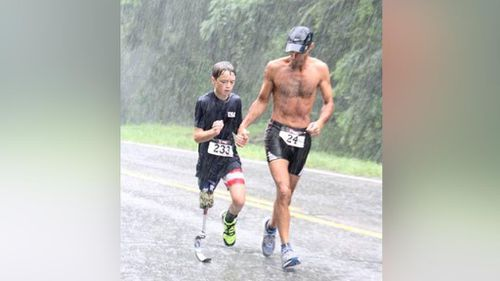 US teen amputee hopes touching triathlon photo will inspire others