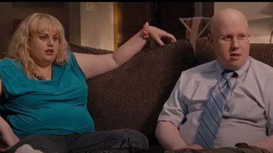 Rebel Wilson and Matt Lucas in Bridesmaids.
