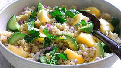 Quinoa salad with pineapple and coriander