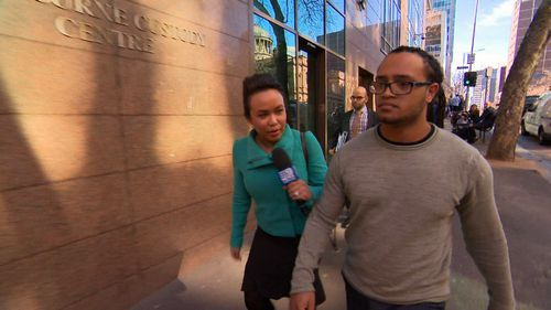 Naol Benti pleaded guilty to 22 charges yesterday, including theft and deception. Picture: 9NEWS