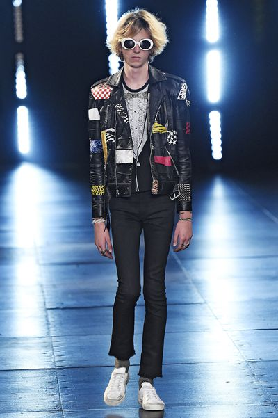 <p>Surf culture met Hedi Slimane's disorderly strain of rock 'n' roll (with a nod to Kurt Cobain) in Saint Laurent's Spring 2016 Menswear collection. Slimane's muse, musician Julia Cumming, took to the runway, as did Dylan Brosnan (son of actor Pierce Brosnan) and Charlie Oldman (son of Gary Oldman). Meanwhile, Jane Birkin, Azzedine Alaïa,&nbsp;Betty Catroux and Salma Hayak Pinault watched from the front row. We're just hoping chivalry lives on with the Saint Laurent man, because we want to borrow his jackets.</p><div>&nbsp;</div>
