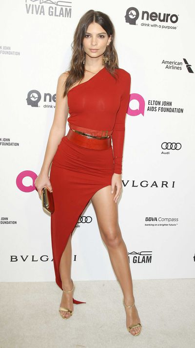 Emily Ratajkowski at Elton John's Oscars party
