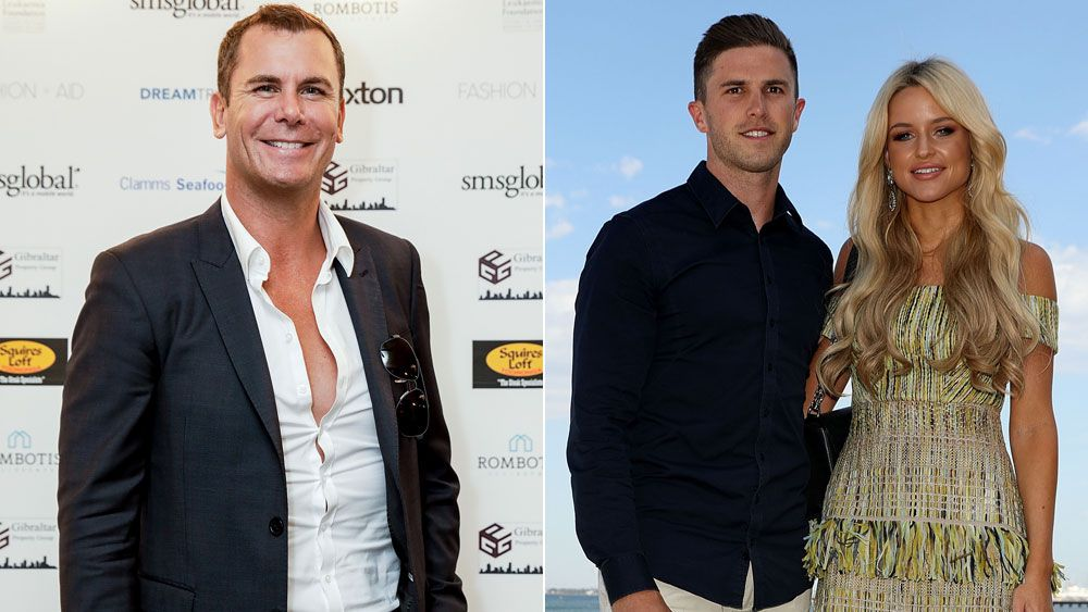Wayne Carey (l) and Marc and Jessie Murphy.