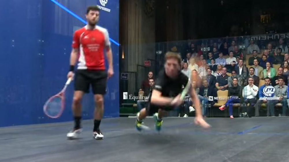 Squash player wins most 'outrageous'  point ever